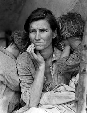 Iconic photo from the Depression --- The scarcity of the 1930's made a deep impact upon people. Namely, it made them fearful of scarcity.